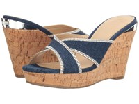 Guess Eleonora Denim Women's Wedge Shoes Blue