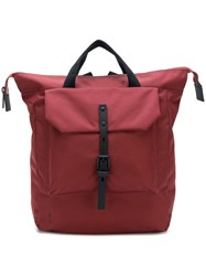 Ally Capellino Square Backpack Red