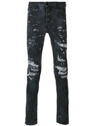 Marcelo Burlon County Of Milan Arke Slim Fit Jeans Cotton Spandex Elastane Polyester Blue