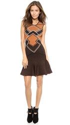 Torn By Ronny Kobo Ruthie Dress Black Copper