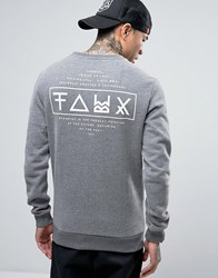 Friend Or Faux Limitless Back Print Sweat Grey