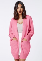Missguided Oversize Batwing Slouch Cardigan Pink