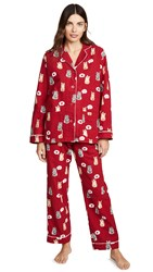 Pj Salvage Meow And Furever Flannel Set Red