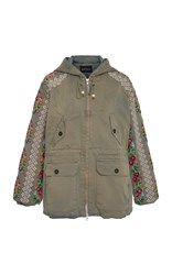 Needle And Thread Cross Stitch Flower Parka Neutral