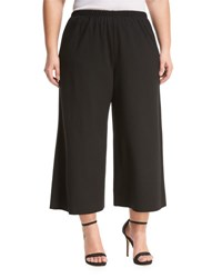 Montagne Plus Cropped Jersey Gaucho Pants Black