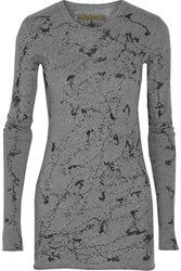Enza Costa Printed Cotton And Cashmere Blend Top