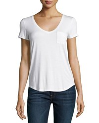 Paige Lynnea Pocket Tee White