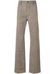 Marni Patterned Flared Trousers Neutrals