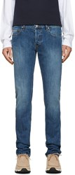 Kenzo Navy Stone Washed Jeans