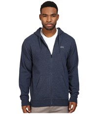 Vans Core Basic Zip Hoodie Iv Dress Blues Heather Men's Sweatshirt Gray