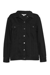 French Connection Slouchy Western Denim Jacket Black