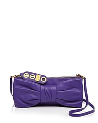 Boutique Moschino Bow Shoulder Bag Purple