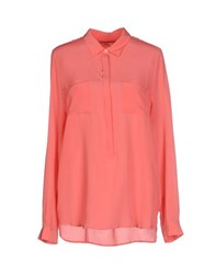 0039 Italy Shirts Blouses Women Coral