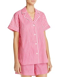 Ralph Lauren Stripe Lawn Short Pajama Set Pink Stripe