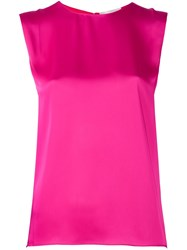 Maison Rabih Kayrouz Silk Effect Sleeveless Blouse Pink And Purple