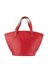 Louis Vuitton Vintage Saint Jacques Tote Red