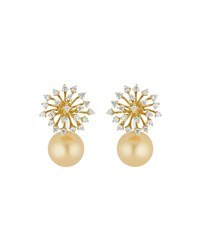 Hueb Luminus 18K Gold Diamond And Pearl Drop Earrings