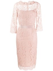 Goat Venus Lace Fitted Dress Pink