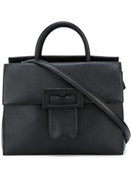 Maison Martin Margiela Large Buckle Detail Shoulder Bag Black