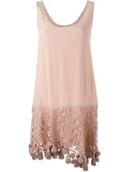 No21 Tassel Trim Dress Nude And Neutrals