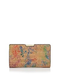 Milly Small Cork Frame Clutch Multi