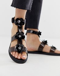 Juicy Couture Clear Flat Sandal Black