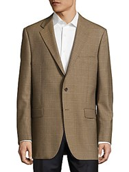 Hickey Freeman Lindsey Checked Two Button Jacket Brown
