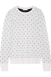 Equipment Shane Polka Dot Silk Sweater White