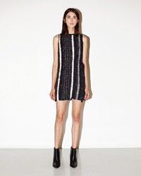 Proenza Schouler Printed Silk Georgette Dress Black And White