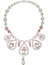 Miu Miu Swirl Embellished Necklace Pink