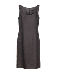 Boss Black Knee Length Dresses Dark Brown