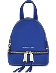 Michael Michael Kors Rhea Extra Small Grained Leather Backpack Elctric Blue
