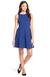 Junior Women's Frenchi Textured Fit And Flare Dress