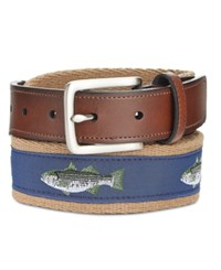 Club Room Men's Bass Fish Reversible Belt Only At Macy's Khaki