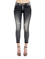 Cult Of Individuality Skinny Fit Ankle Length Jeans Grey