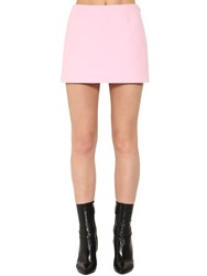 Valentino Couture Wool Blend Crepe Mini Skort Pink