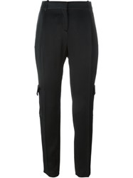 Fausto Puglisi Pocket Detail Pleated Tapered Trousers Black