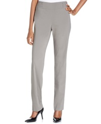Jm Collection Petite Studded Pull On Pant Hazy Taupe