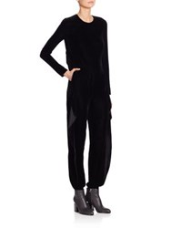 Ralph Lauren Megan Velvet Jumpsuit Black