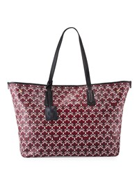 Liberty London Marlborough Iphis Print Tote Bag Oxblood Dk Red