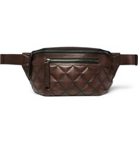 Berluti Quilted Leather Belt Bag Brown