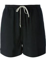 Rick Owens Oversized Shorts Black