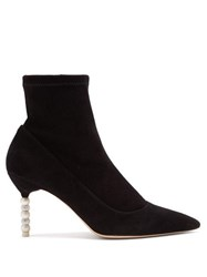 Sophia Webster Coco Suede Ankle Boots Black