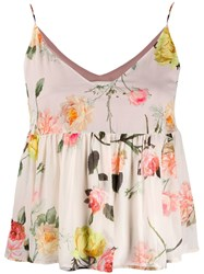 Semicouture Flared Floral Print Top 60