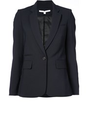 Veronica Beard One Button Blazer Blue
