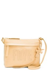 Frye Carson Perforated Logo Leather Crossbody Bag Yellow Banana