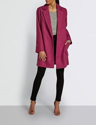Missguided Open Front Woven Coat Pink