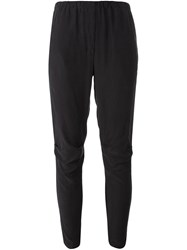 Kristensen Du Nord Cropped Tapered Trousers Black