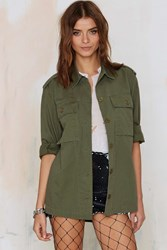 Nasty Gal Charmed And Dangerous Army Jacket