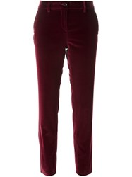Etro Velvet Tailored Trousers Pink And Purple